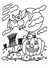 Halloween Colorare Kleurplaat Disegno Colorear Notte Zucca Pompoen Calabaza Dibujo Citrouille Disegni Stampare Coloriage Coloriages Dibujos Album Gratis Imprimir Scarica sketch template