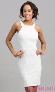 Sleeveless Short White Dresses