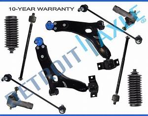 New 10pc Front Lower Control Arm Set  U0026 Suspension Kit For Ford Focus 2006