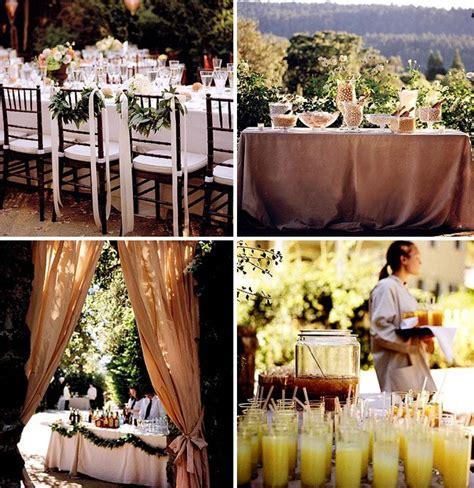 throw  backyard wedding  food table decor