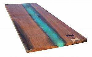 Canary Wood and Resin Live Edge Table Top Chairish