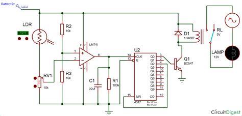 Wireless Switch Circuit Diagram Using Ldr