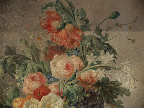peinture bouquet de fleurs moderne bouquet of flowers on canvas xixth painting of other style