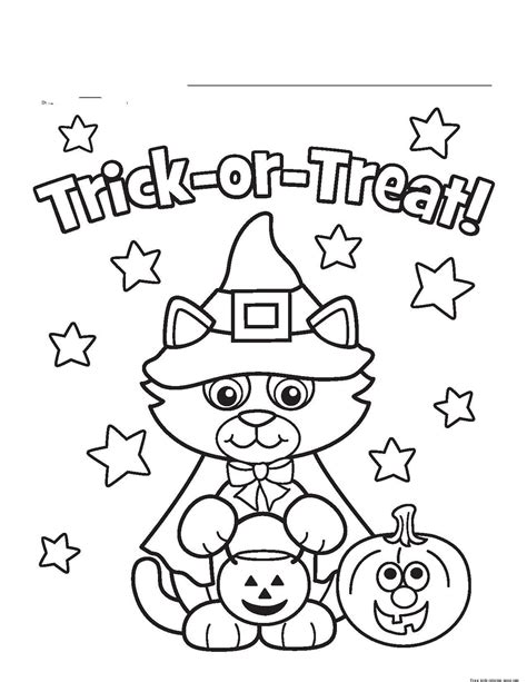 Free printable halloween coloring pages kids Halloween