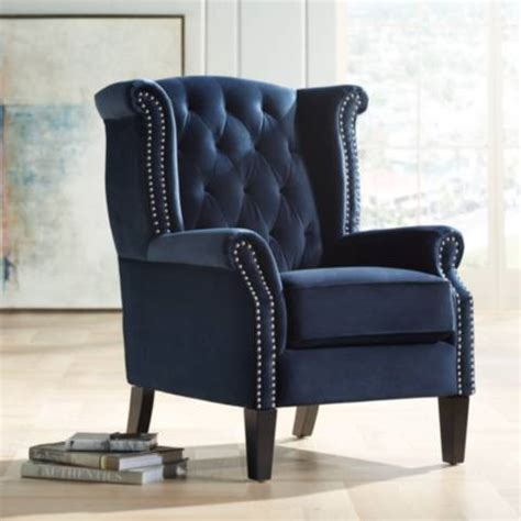 Blue Armchair by Williamsburg Navy Blue Tufted Wingback Armchair 37t50