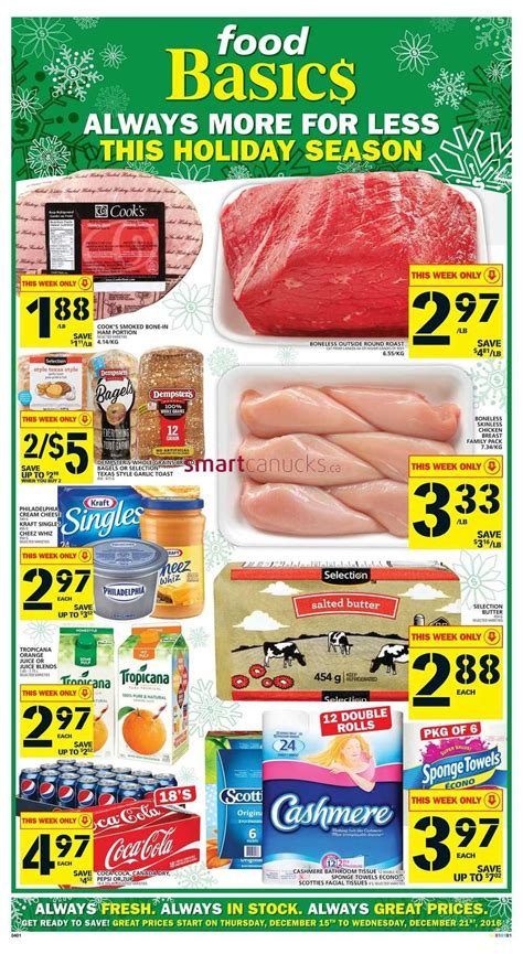 basics of cuisine food basics flyer december 15 to 21 food basics flyer