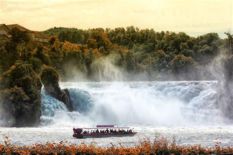Boat Ride Rhine Falls Switzerland by Rhine Falls Switzerland Cattanblog