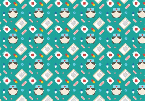 nurse vector pattern   vector art