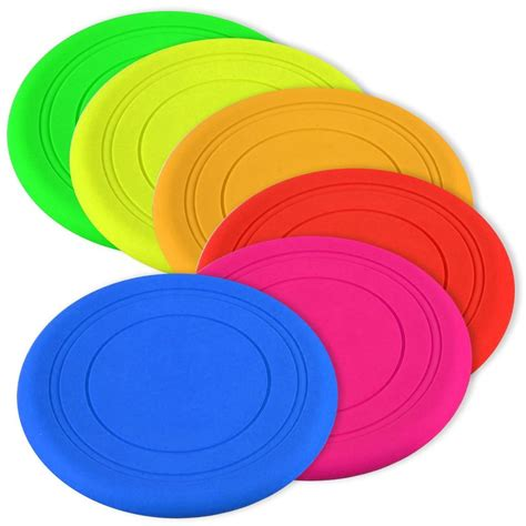 soft frisbee soft light silicone rubber pet puppy frisbee
