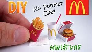 DIY Miniature McDonald's Food Menu | DollHouse | No ...