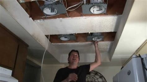 kitchen fluorescent light replacement step 1 replace fluorescent lights w recessed lights 4880