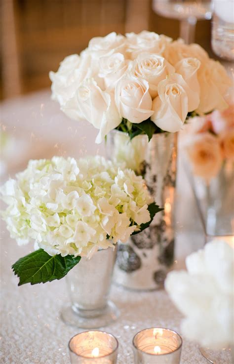short white roses wedding reception centerpieces archives
