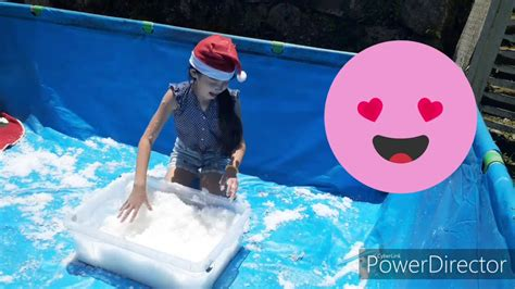 kid christmas fun play  instant snow   pool  brazil youtube