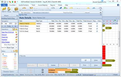 hospitality front desk hotel software anand systems inc