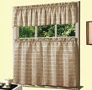 amazon com dainty home jeanette kitchen curtain set