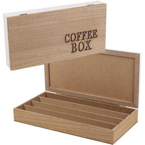 boite pour dejeuner au bureau boite quot coffee box quot en bois mdf 44 capsules maison futée