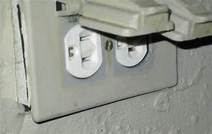 Electrical replacing outdoor outlet home improvement