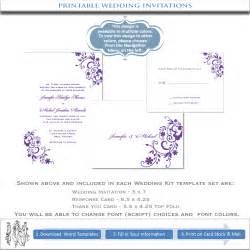 wedding invitations templates purple wedding invitation templates printable diy invites
