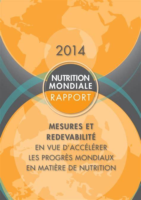 b005r6mgpe rapport sur les progres de rapport 2014 sur la nutrition mondiale