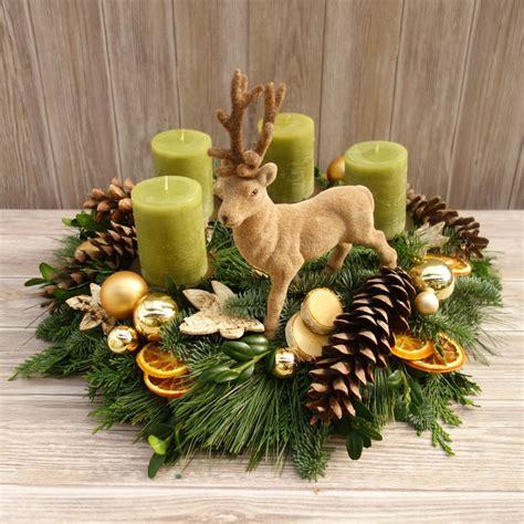 Weihnachtsdeko Adventskranz by Adventskranz Gr 252 N Adventskr 228 Nze Weihnachten Deko