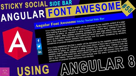 Lorem ipsum has been the industry's standard dummy text ever since the 1500s. Angular Font Awesome Sticky Social Side Bar | Font Awesome ...