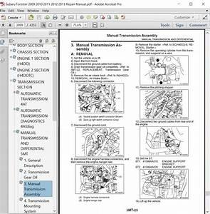 Subaru Forester 2009 2010 2011 2012 2013 Repair Manual
