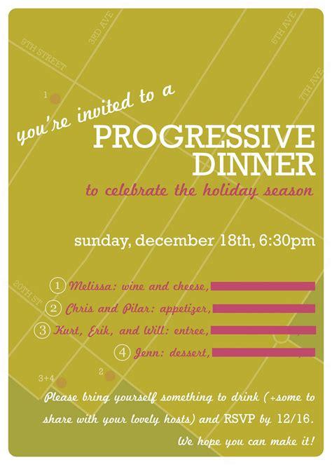progressive dinner party invitations  party ideas