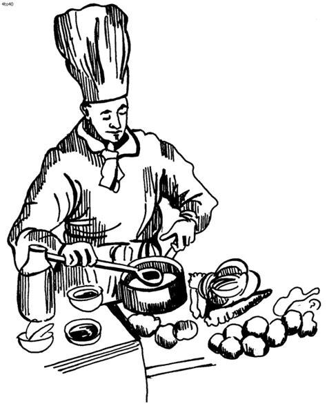 cuisinier dessin couleur dessin de cuisinier en couleur