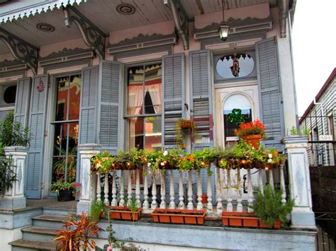 Front Porch In The French Quarter, New Orleans, Louisiana