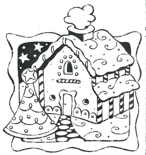 gingerbread house coloring pages getcoloringpagescom