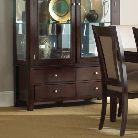 Silver China Cabinet by Steve Silver Wilson China Cabinet Base In Merlot Cherry