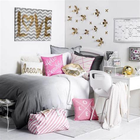 chambre ado fille en  idees de decoration en couleurs