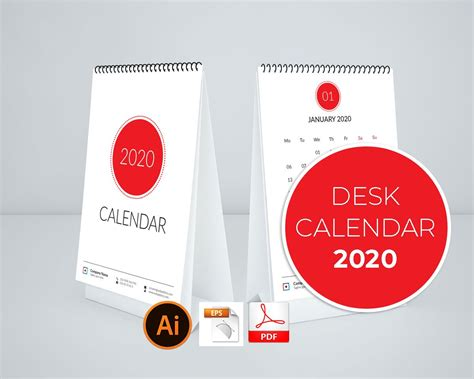 simple calendar desk stationery templates creative market