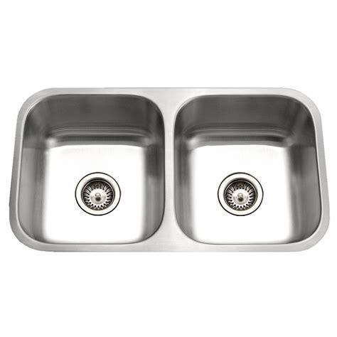 16 gauge stainless steel sink shop houzer eston 16 gauge double basin undermount