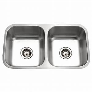 shop houzer eston 16 gauge double basin undermount With stainless steel kitchen sink gauge