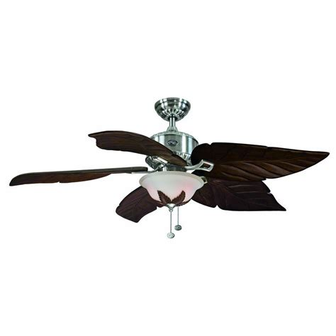 hton bay antigua 56 in brushed nickel ceiling fan