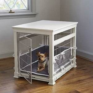 luxury white pet residence dog crate frontgate With luxury dog crates furniture