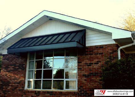 standing seam metal awning  window residential