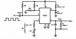 Frequency To Vvoltage Converter Circuit Diagram