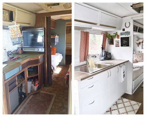 Kitchen Floor Before And After by Airstream Kitchen Remodel Before After Mavis The