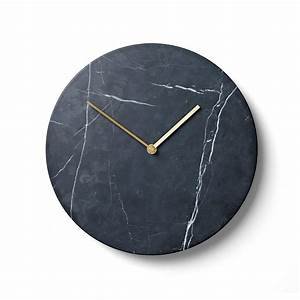Wanduhr Schwarz Modern : marble wanduhr von menu im wohndesign shop ~ Michelbontemps.com Haus und Dekorationen