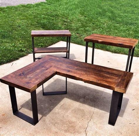 diy wood l die besten 25 diy l shaped desk ideen auf