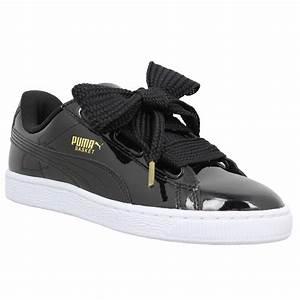 Basket Puma Noir Homme : puma basket heart patent femme noir femme fanny chaussures ~ Melissatoandfro.com Idées de Décoration