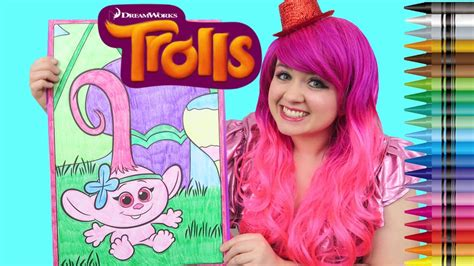 trolls baby poppy giant coloring page crayola crayons