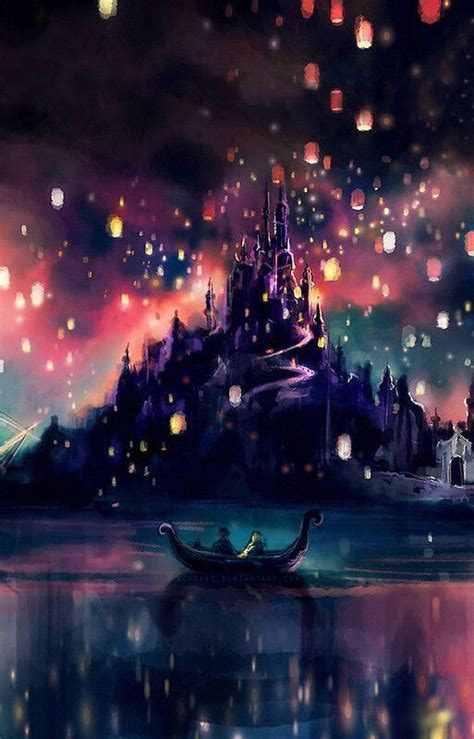 Disney Tangled Castle Lights Wallpapers Pinterest