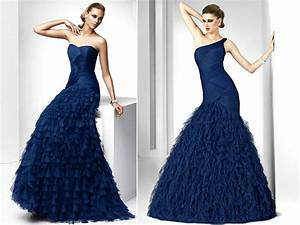 midnight blue full length bridesmaids dresses with With midnight blue dress for wedding