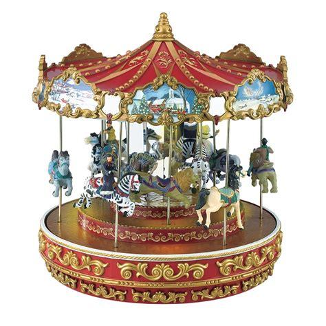 shop mr christmas triple decker carousel at lowes com