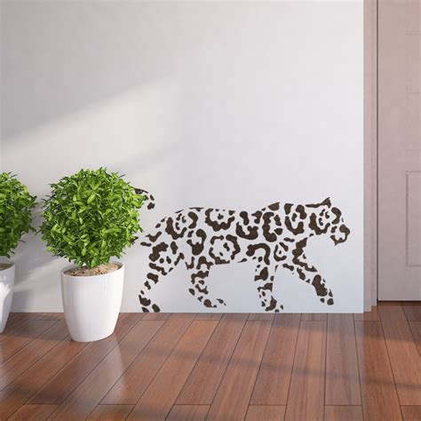 wall stencils abstract leopard template easy diy wall