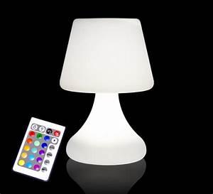 Lampe De Table Exterieur : lampe de table led h26cm sans fil rechargeable 49 salon ~ Teatrodelosmanantiales.com Idées de Décoration
