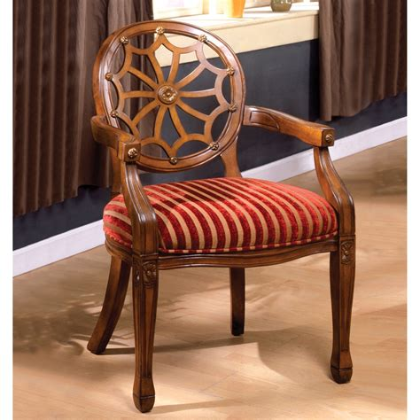 fabric side chairs edingurgh antique oak accent chair with padded fabric seat 3652